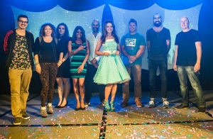 Emily Middlemas with judges MED